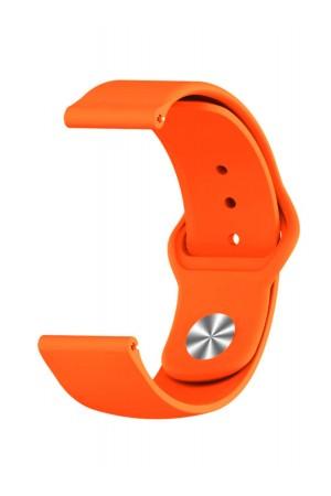 Силиконовый ремешок для Amazfit Bip, 20 мм, застежка pin-and-tuck, оранжевый, ml-010
