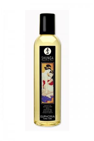 Масло для массажа Shunga Euphoria, натуральное, возбуждающее, с цветочным ароматом, 250 мл