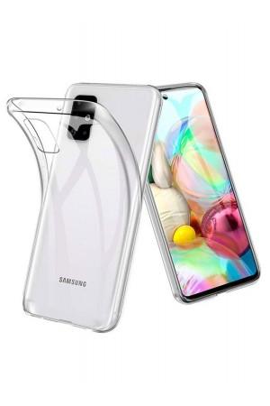 Чехол силиконовый для Samsung Galaxy A71, прозрачный