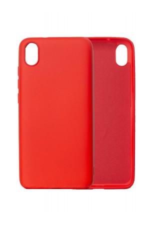 Чехол силиконовый для Xiaomi Redmi 7A, мягкая подложка, красный