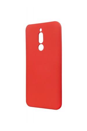 Чехол силиконовый Brauffen для Xiaomi Redmi 8, мягкая подложка, красный
