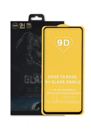 Защитное стекло 9D Glass Unipha для Xiaomi Redmi Note 9S, черная рамка, полный клей, mk068