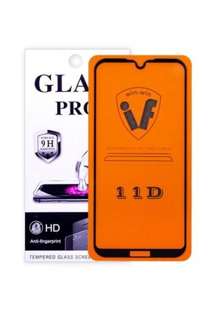 Защитное стекло 11D Glass Pro для Honor 8S, черная рамка, полный клей