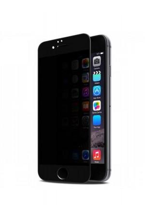 Защитное стекло 3D Ainy для iPhone 6, антишпион, черная рамка, полный клей