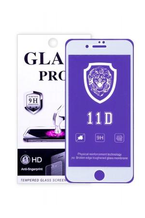 Защитное стекло 11D Glass Pro для iPhone 8 Plus, белая рамка, полный клей, mk074