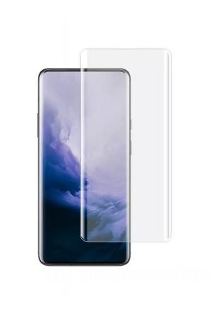 Защитное стекло 3D для OnePlus 7 Pro, UV с УФ лампой