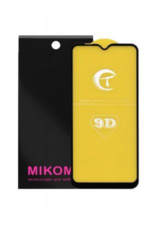 Защитное стекло 9D Mikomo для Samsung Galaxy M10, Premuim Black, полный клей, mk021