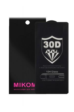 Защитное стекло 30D Mikomo для Samsung Galaxy A90, черная рамка, полный клей