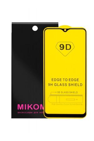 Защитное стекло 9D Mikomo для Samsung Galaxy A20S, черная рамка, полный клей