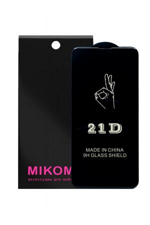 Защитное стекло 21D Mikomo для Samsung Galaxy S10 Lite, Premium Black, черная рамка, полный клей