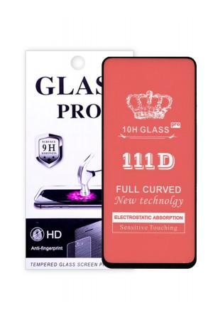Защитное стекло 111D Glass Pro для Samsung Galaxy A91, черная рамка, полный клей