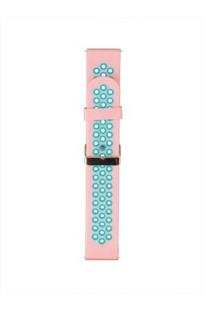 Силиконовый ремешок для Amazfit Pace, 22 мм, перфорированный, розовый