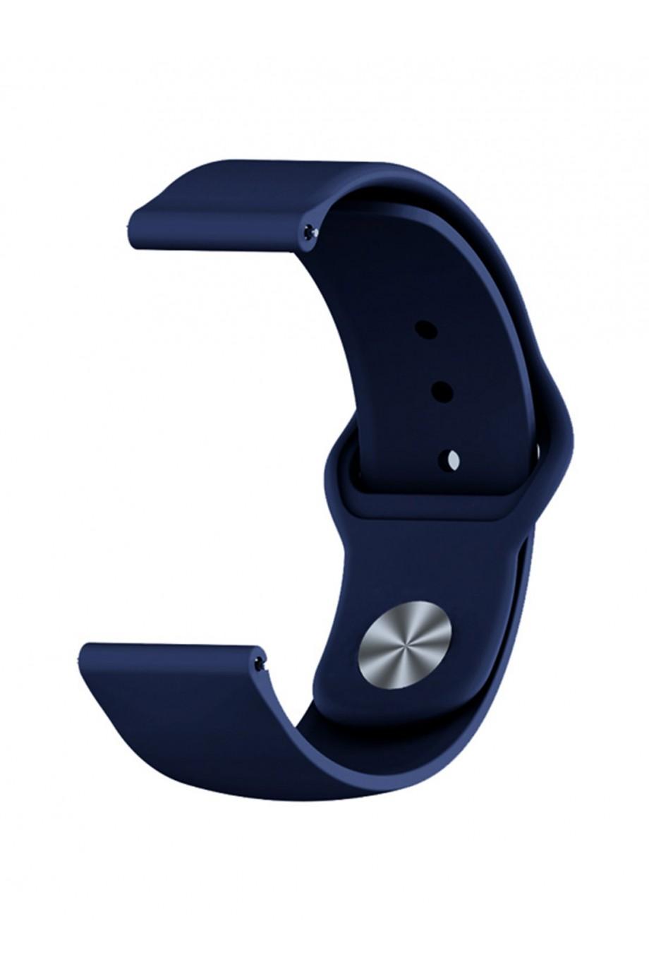 Силиконовый ремешок для Amazfit Stratos 2, 22 мм, застежка pin-and-tuck, темно-синий, mz-08