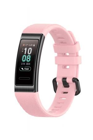 Силиконовый ремешок для Huawei Band 4 Pro, розовый