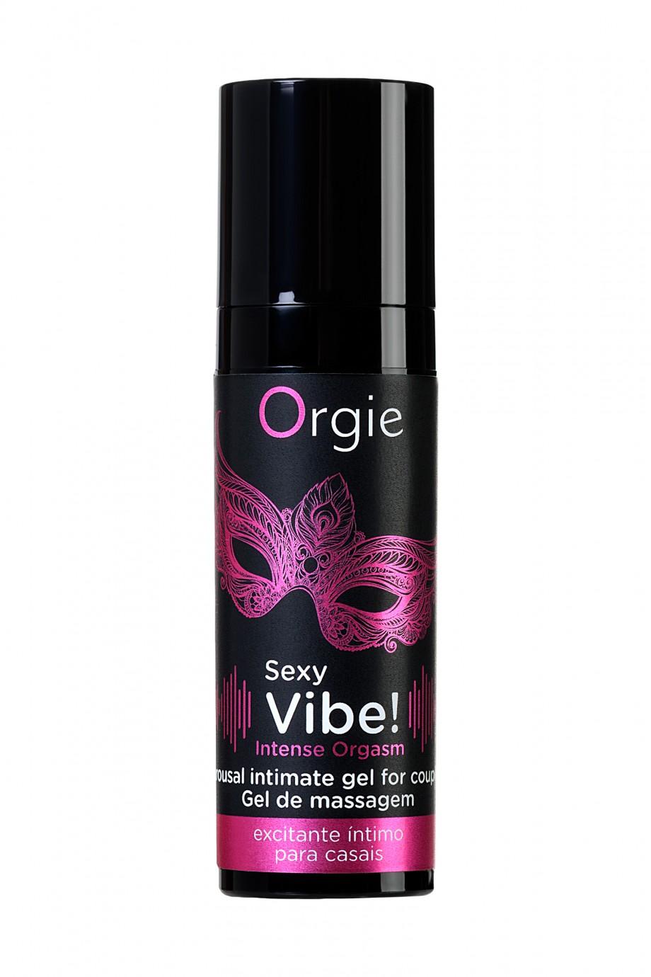 Гель для массажа ORGIE Sexy Vibe Intense Orgasm с эффектом вибрации, 15 мл