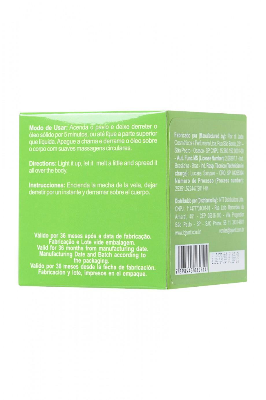 Массажная свеча для поцелуев INTT Caiprinha с ароматом лайма, 30 мл
