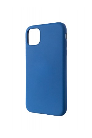 Чехол силиконовый Brauffen для iPhone 11, мягкая подложка, синий