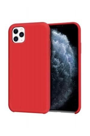 Чехол силиконовый для iPhone 11 Pro, мягкая подложка, красный
