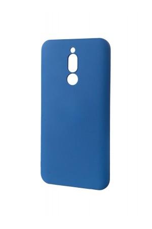 Чехол силиконовый Brauffen для Xiaomi Redmi 8, мягкая подложка, синий
