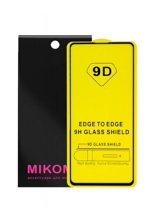 Защитное стекло 9D Mikomo для Samsung Galaxy Note 10 Lite, черная рамка, полный клей
