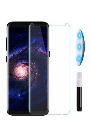 Защитное стекло 6D Ainy для Samsung Galaxy S9, UV с УФ лампой, полный клей