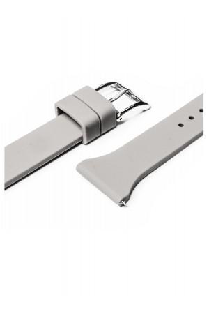 Силиконовый ремешок для Amazfit Pace, 22 мм, застежка пряжка, серый, mkx058