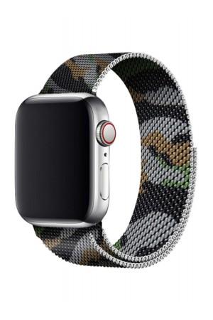 Металлический ремешок для Apple Watch 3 38 мм, комуфляж