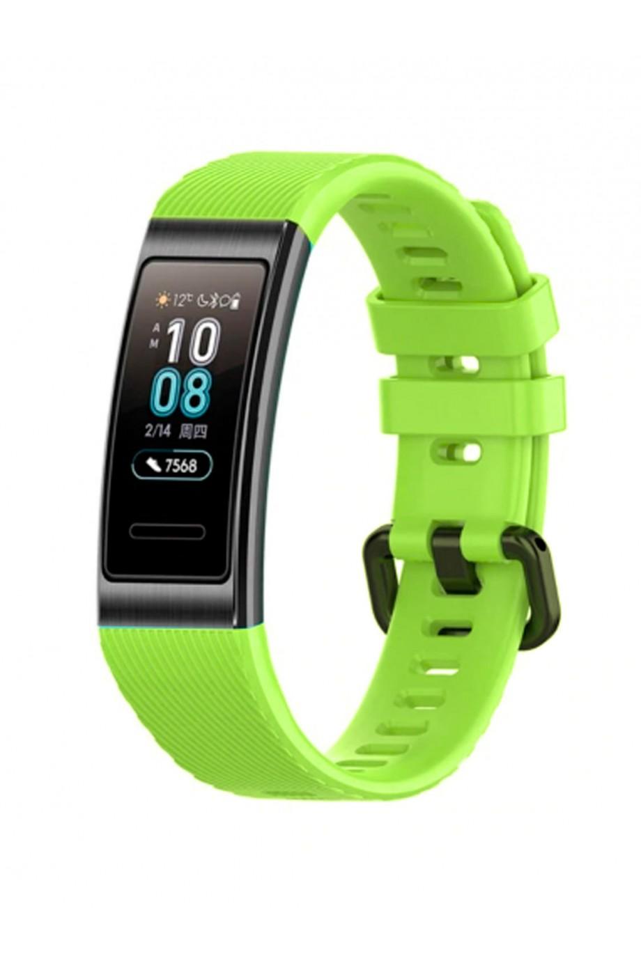 Силиконовый ремешок для Huawei Band 3, зеленый