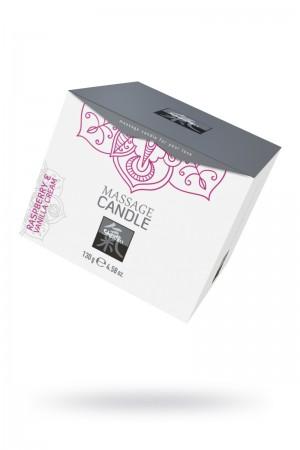 Массажная свеча HOT Shiatsu с ароматом малины и ванильным кремом, мл