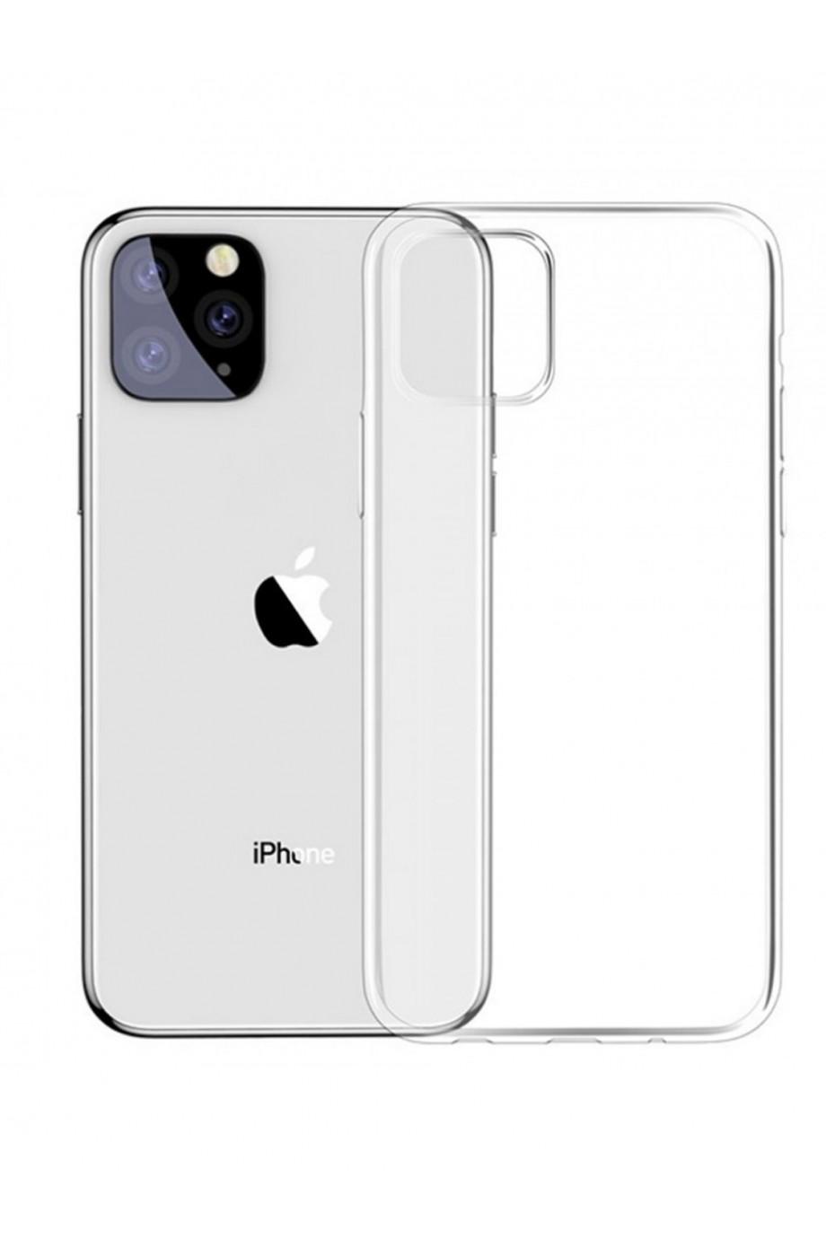 Чехол силиконовый для iPhone 11 Pro, прозрачный, плотный
