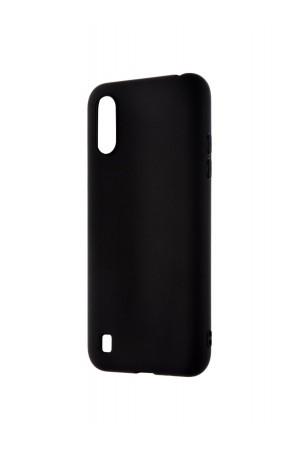 Чехол силиконовый для Samsung Galaxy A01, черный