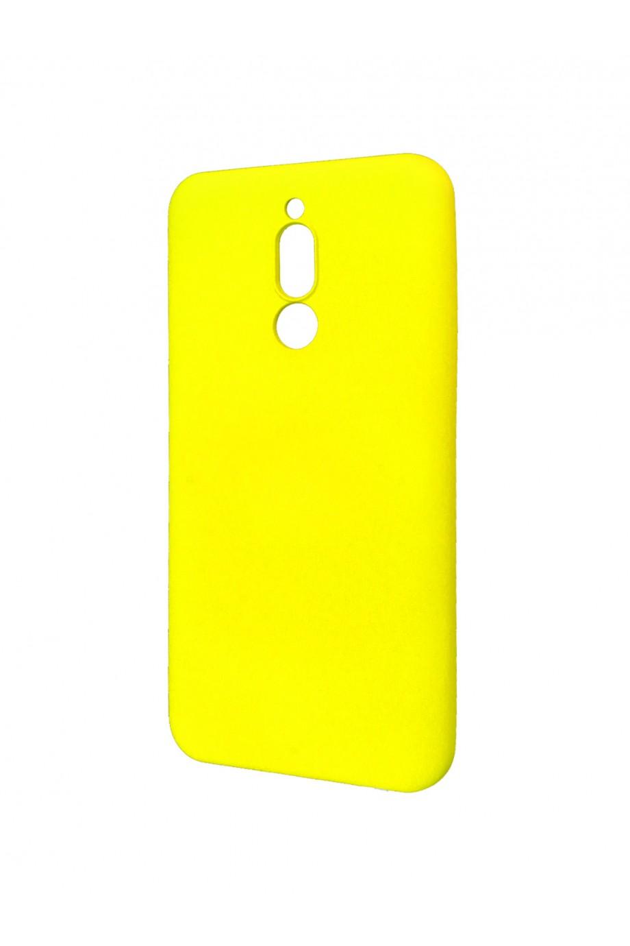 Чехол силиконовый Brauffen для Xiaomi Redmi 8, мягкая подложка, желтый