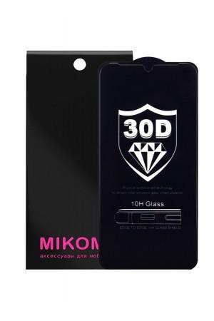 Защитное стекло 30D Mikomo для Honor 8S, черная рамка, полный клей