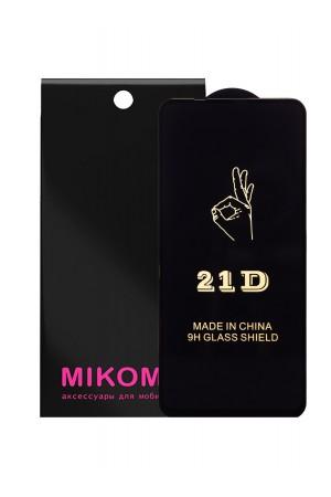 Защитное стекло 21D Mikomo для Honor 20 Pro, Premium Black, черная рамка, полный клей