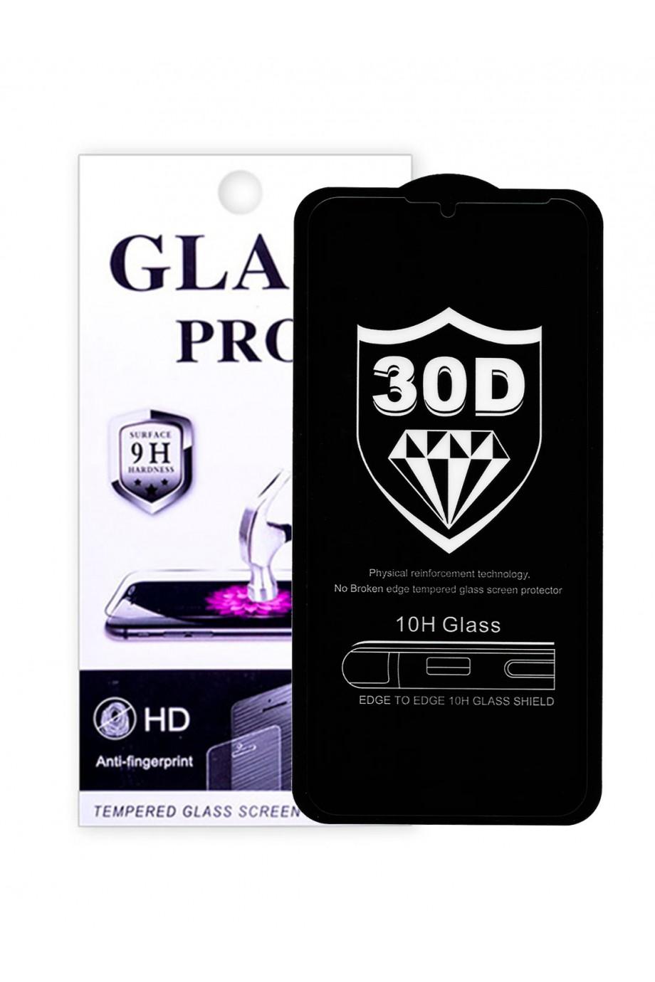 Защитное стекло 30D Glass Pro для Huawei Y6 2019, черная рамка, полный клей, mk042