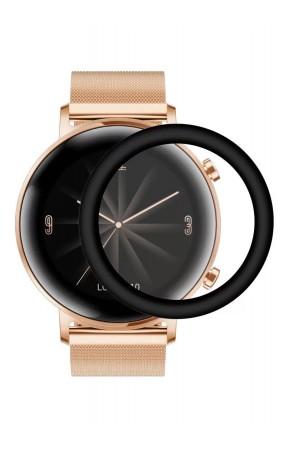 Защитная пленка PMMA для Huawei Watch GT 2 42 мм, черная рамка, полный клей