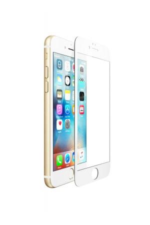Защитное стекло Ainy для iPhone 6 Plus, белая рамка, полный клей