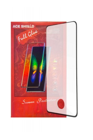 Защитное стекло Ace Shield 3D для Samsung Galaxy S10, отверстие под палец, черная рамка, полный клей