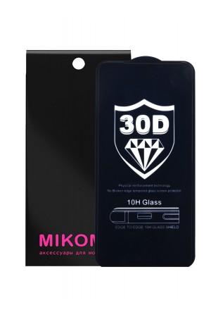 Защитное стекло 30D Mikomo для Xiaomi Mi 9 Lite, черная рамка, полный клей