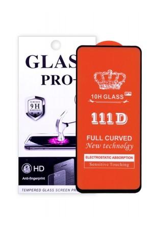 Защитное стекло 111D Glass Pro для Xiaomi Redmi Note 9 Pro, черная рамка, полный клей