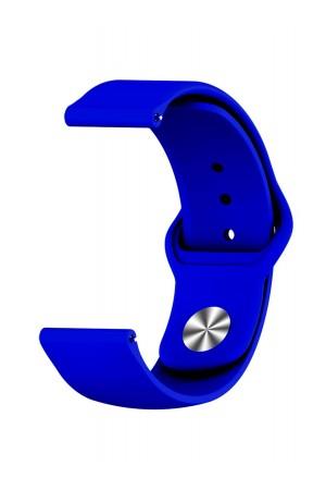 Силиконовый ремешок для Amazfit Stratos, 22 мм, застежка pin-and-tuck, синий электрик, mz-09