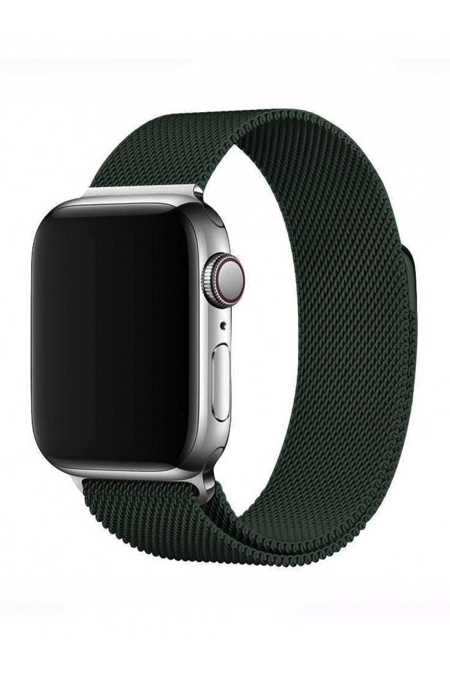 Металлический ремешок для Apple Watch 3 38 мм, темно-зеленый