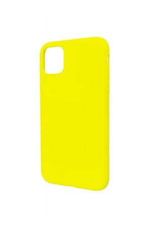 Чехол силиконовый Brauffen для iPhone 11, мягкая подложка, желтый