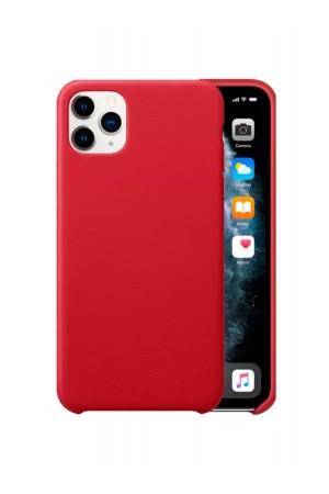 Чехол силиконовый для iPhone 11 Pro Max, мягкая подложка, красный
