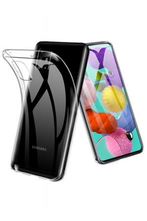 Чехол силиконовый для Samsung Galaxy A51, прозрачный