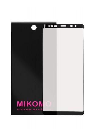 Защитная пленка 3D Mikomo для Samsung Galaxy Note 9, черная рамка, полный клей