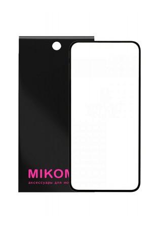 Защитное стекло 3D Mikomo для Huawei P40, черная рамка, полный клей