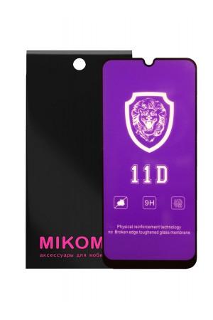 Защитное стекло 11D Mikomo для Samsung Galaxy A20, черная рамка, полный клей
