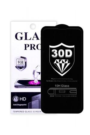 Защитное стекло 30D Glass Pro для Samsung Galaxy S10e, черная рамка, полный клей
