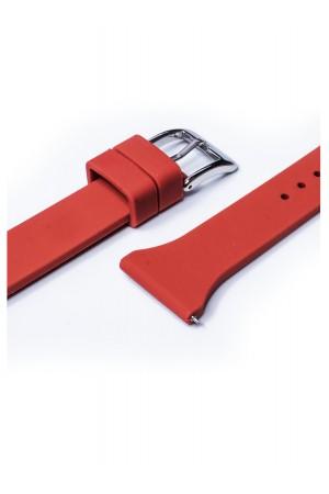 Силиконовый ремешок для Amazfit Stratos, 22 мм, застежка пряжка, красный, mkx054